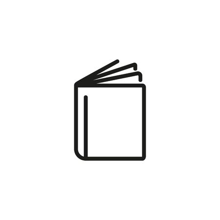Catalogue thin line icon. Open book, library, archive isolated outline sign. Booklet concept. Vector illustration symbol element for web design and apps