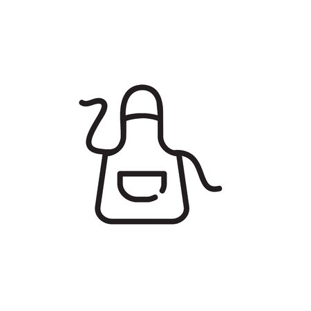 Kitchen apron thin line icon. Protective clothing, uniform, housewife isolated outline sign. Cooking concept. Vector illustration symbol element for web design and apps