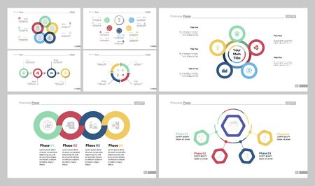 Infographic design set can be used for workflow layout, diagram, report, presentation, web design. Business and management concept with cycle, pie, option, step, process, doughnut and flow charts.