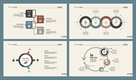 Infographic design set can be used for workflow layout, diagram, annual report, presentation, web design. Business and planning concept with process and percentage charts.