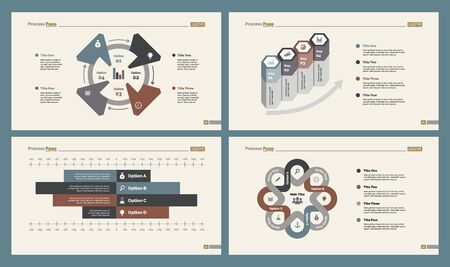 Infographic design set can be used for workflow layout, diagram, annual report, presentation, web design. Business and marketing concept with process and bar charts. Reklamní fotografie