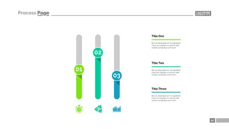 Three columns bar chart. Business data. Comparison, diagram, design. Creative concept for infographic, templates, presentation, report. Can be used for topics like analysis, accounting, finance.