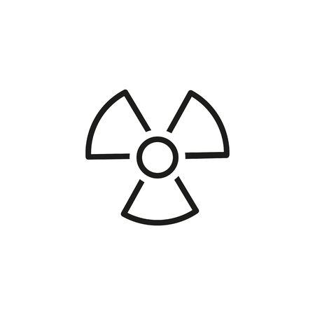 Icon of air conditioner. Fan, hazard, cooler. Radiation concept. Can be used for topics like danger, pollution, appliance Stockfoto
