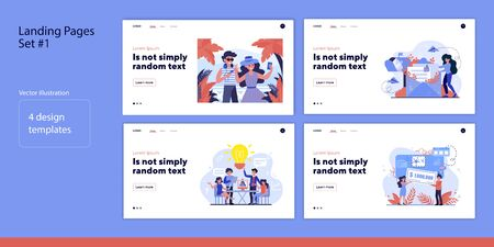 Set of various people and life moments. Flat vector illustrations of men and women winning, brainstorming, traveling. Lifestyle and work concept for banner, website design or landing web page
