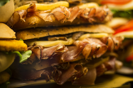 Image of sandwiches close-up.