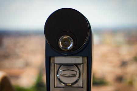 beautiful view of the telescope. Narrow focus
