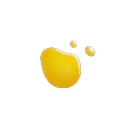 A drop of honey or oil on a white isolated background. Concept lube, motor oil, spilled honey or liquid. Flat lay, top view.
