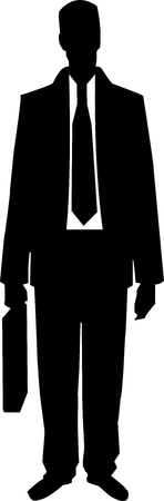 business man with a brief-case Vector