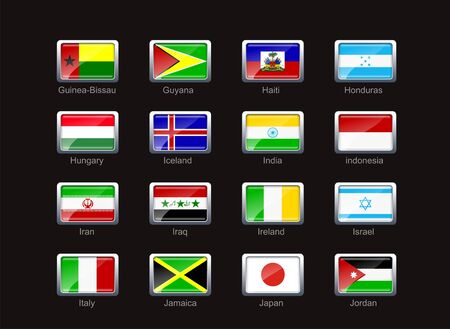 Flag icon set (part 5) Stock Photo - 2894462