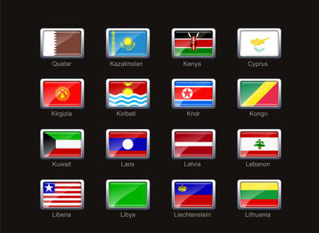 kirgizia: Flag icon set (part 6)