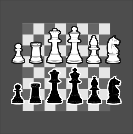 An illustration of chess piece Illustration