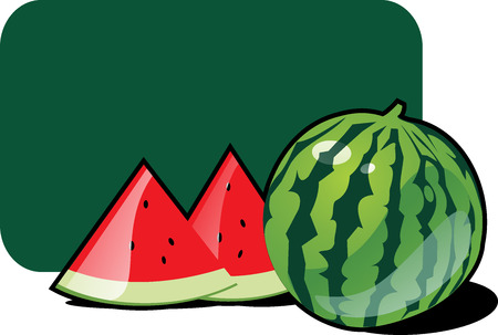 bacca: Icon of water-melon Illustration