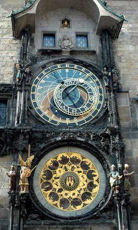 The famous Astronomical Clock in Prague, Czech Republic photo