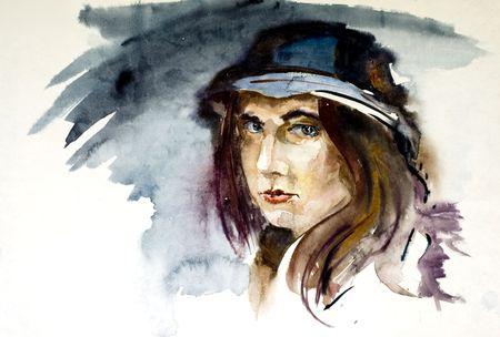 aquarel: aquarel portrait
