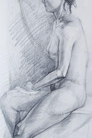 disegni a matita: Matita disegni di donna.