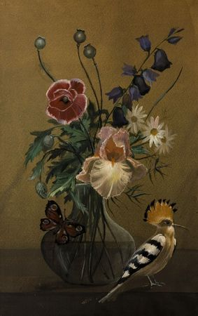 flowers in vase: still life