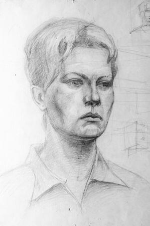 caucasian: Pencil drawings of  woman.