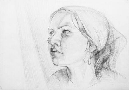 certain: Pencil drawings of  girl