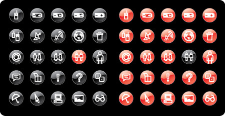 Web and media icon set. Part 3. Vector