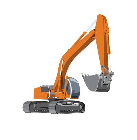 dredger: excavator Illustration