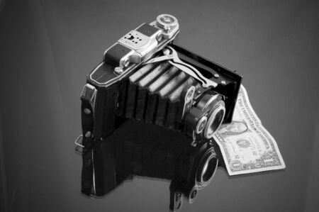 Conceptual of the money that can be made with photography photo