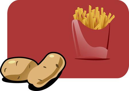 vector artwork: potato