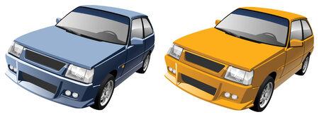 Small Compact Car Stock Vector - 4803655