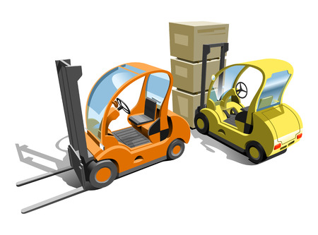 picking up: Forklift
