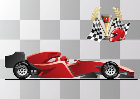 vector illustration of  formula 1 Illustration
