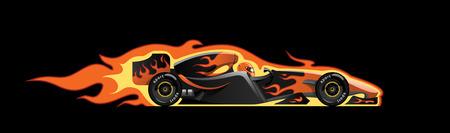 vector illustration of  formula 1. racing car