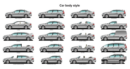 A Vector . 8 illustration of car body style. Stock Vector - 5016241