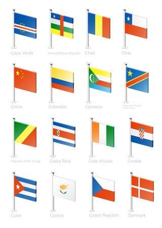 Flag icon set (part 3) Vector