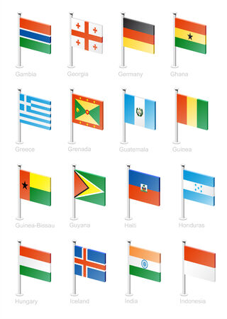 Flag icon set (part 5) Vector