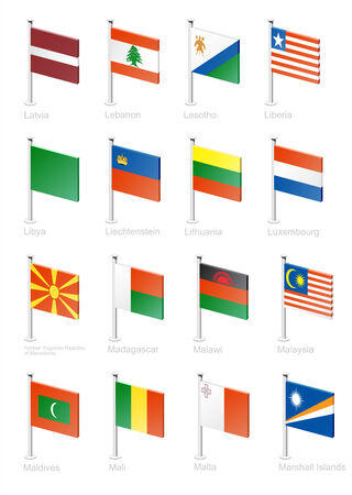 Flag icon set (part 7) Vector
