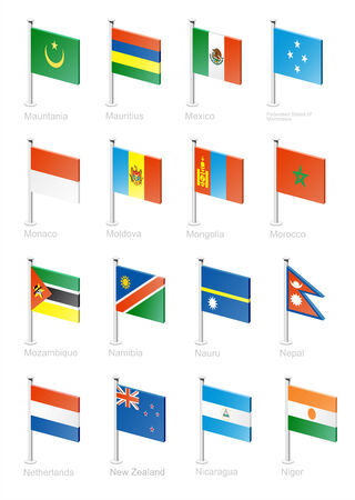 Flag icon set (part 8) Vector
