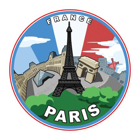 Illustration based on the city of Paris.  Illustration