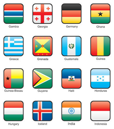guyanese: Flag icon set (part 5) Gambia, Georgia, Germany, Ghana, Greece, Grenada, Guatemala, Guinea, Guinea-Bissau, Guyana, Haiti, Honduras, Hungary, Iceland, India, Indonesia