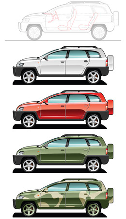 crossover - part of my collections  of Car body style. Simple gradients only - no gradient mesh. Vector