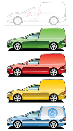 van - part of my collections  of Car body style. Simple gradients only - no gradient mesh Vector