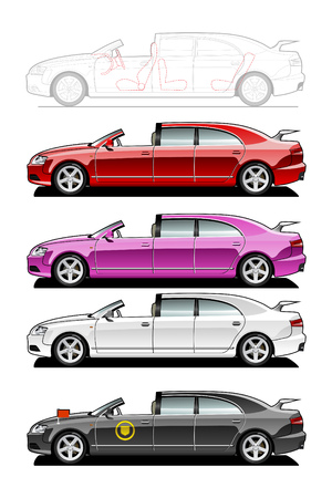 Brougham. part of my collections  of Car body style. Simple gradients only - no gradient mesh Stock Vector - 6141682