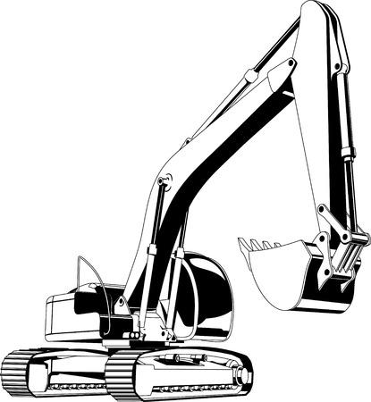oruga: excavadora