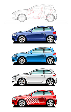 Hatchback(three door) Stock Vector - 6188677