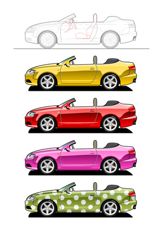 Convertible (two-door) Stock Vector - 6188673