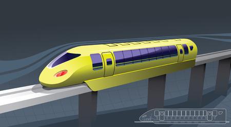 fast train Stock Vector - 6658275