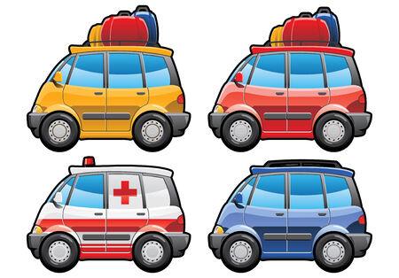 ambulancia: minivan - parte de mis colecciones de estilo de la carrocer�a de coche. Simples degradados s�lo - no degradado de malla.