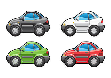 coupе. part of my collections  of Car body style. Simple gradients only - no gradient mesh Stock Vector - 6767640