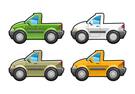 no body: Pickup. part of my collections  of Car body style. Simple gradients only - no gradient mesh