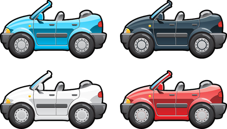 convertible: Convertible. part of my collections  of Car body style. Simple gradients only - no gradient mesh Illustration