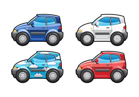 Hatchback. part of my collections  of Car body style. Simple gradients only - no gradient mesh Vector
