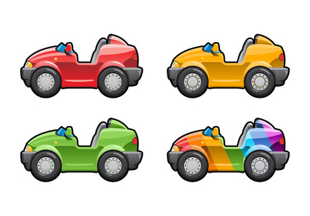 roadster: Roadster (barchetta) . part of my collections  of Car body style. Simple gradients only - no gradient mesh Illustration